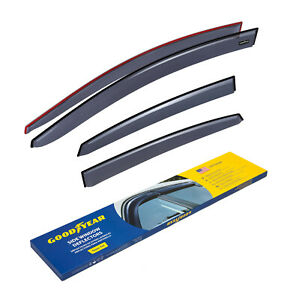 Goodyear Window Sun visors for Nissan Sentra 2013-2019 Sedan Tape-on, 4 pcs