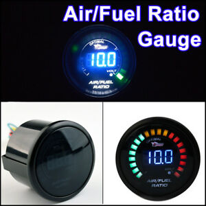 Universal 2Inch 52MM 20 LED Digital Auto Car Racing Air Fuel Ratio Monitor Gauge