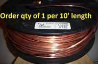 GROUND WIRE 6 AWG GAUGE SOLID BARE COPPER 100A SERVICE 6AWG cut to order per 10'