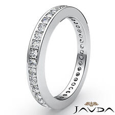 Classic Round Pave Diamond Wedding Band 18k White Gold Women Eternity Ring 0.4Ct