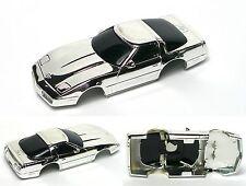1990 TYCO CORVETTE ZR1 HO Slot Car BODY Factory Chrome Plain BLACK Windshield