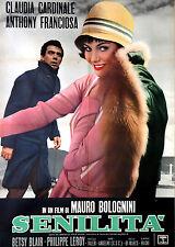 Claudia Cardinale Mauro Bolognini SENILITA' manifesto 2F originale 1962