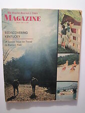 Louisville Courier Journal Magazine 1969 KY Travel Guide! Daniel Boones's KY!