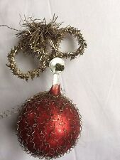 """ANTIQUE GERMAN VICTORIAN CHRISTMAS ORNAMENT WIRE WRAPPED FEATHER TREE 2"""""""