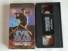 The Evil Dead Horror Vhs Tape In Original Box Bruce Campbell Sam Raimi