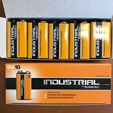 5 Duracell 9V Industrial Procell Alkaline Batteries Smoke Alarm LR22 MN1604 BLOC