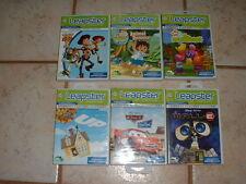 Lot 6 LeapFrog Leapster Game Cartridges Pre-K-1st Grade (4-7) Disney/Nick Jr