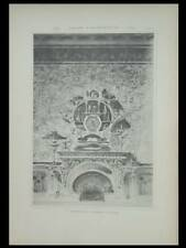 TONY SELMERSHEIM, CHEMINEE ET HORLOGE - PLANCHE 1897 - ART NOUVEAU