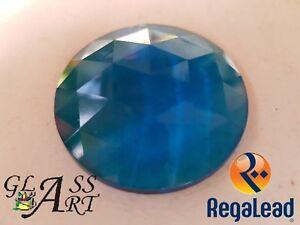 Suncatcher Aquamarine jewel Regalead RJ30R8 30mm stained glass lead window
