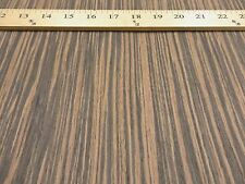 "Macassar Ebony composite wood veneer 24"" x 96"" on paper backer 1/40th"" thick -VH"