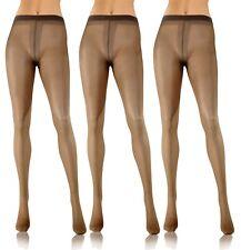 Strumpfhosen Damen 3er Pack 20 den Dünn Durchsichtig Glatte Feinstrumpfhose