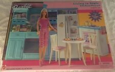 BARBIE LIVING IN STYLE KITCHEN PLAYSET FRIDGE DISHWASHER 2002 MATTEL NIB