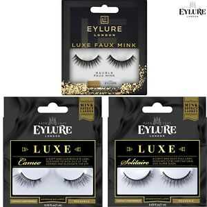 Eylure LUXE Mink Effect False Eyelashes - Natural Full Velvety & Soft & Tipped