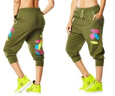 Zumba Da Zumba Funk Baggy Capri Pants XL Green  NEW with tags