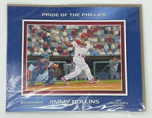 Pride of The Phillies Jimmy Rollins 2011 Collectors Edition Print Picture