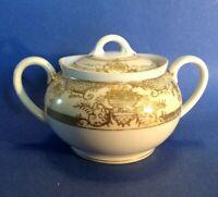 Noritake Sugar Bowl - Fleurgold Pattern - White With Raised Gold Moriage - Japan