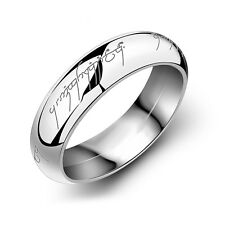 Unisex Lord of the Ring Stainless Steel The One Ring Bilbo's Hobbit Gold Ring CN