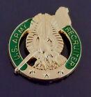 U.S. ARMY RECRUITER Lapel Pin United States USA gold/green
