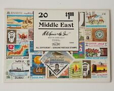 Middle East Stamp Collection, SEALED PACKET 20 All Different Postage Stamps