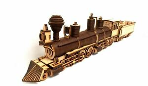 3D Wooden Puzzle, Craft Model Kit for Adults and Kids, Casey Jones Locomotive