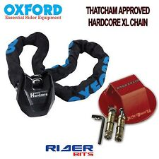 FLOOR ANCHOR & OXFORD HARDCORE XL MOTORCYCLE THATCHAM APPROVED 1.5M CHAINLOCK