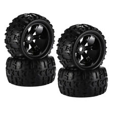 4x 1:8 RC Car Tires Wheel Tyres for E-MAXX HSP Savage Replacement Parts