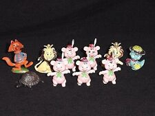 Imperial Toy Hong Kong Plastic Rubber Figure Pig Fox Duck Gummy Lion Animal Lot
