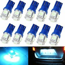 JDM ASTAR 10x T10 5050 SMD Ice Blue 12V LED Lights Bulb 194 168 2825 175 W5W 192