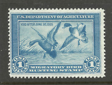 RW1 = Mint-OG-NH  [ MNH ] 1934 U.S.Duck Stamp ~ $1 Mallards Alighting