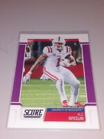 "AJ BROWN 2019 SCORE ""PURPLE"" PARALLEL ROOKIE FOOTBALL CARD TITANS / OLD MISS"
