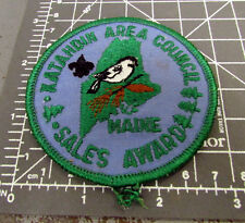Katahdin area council Maine Boy Scouts Sales Award iron on Embroidered Patch