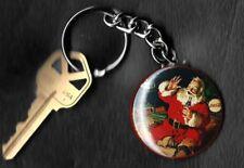 Coca-Cola Santa with Lionel Train Set Haddon Sundblom Keychain Key Chain