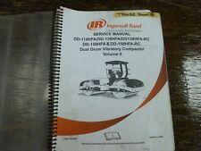 Ingersoll Rand Dd118hfa Vibratory Dual Drum Compactor Shop Service Repair Manual