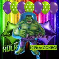 10 Piece Set Incredible Hulk Avengers Hero Birthday Party Balloon decor Super