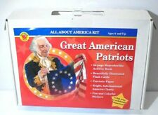 All About America Great American Patriots School Kit Poster Workbook Flash Cards