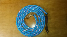 12' BLUE W/RED & WHITE TRACERS LEAD ROPE FOR PARELLI NATURAL HORSE TRAINING