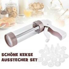 Biscuit Cookie Icing Cake Decorating Presse Cutter Set : Piping Gun + Nozzles ne