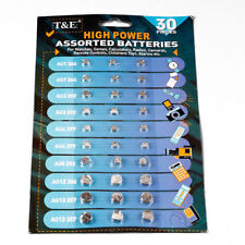 30PCS/set Assorted Button T&E Cell Watch Batteries AG1/3/4/5/12/13 Button Cell