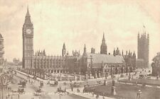 UK London Clock Tower And Houses of Parliament 03.84