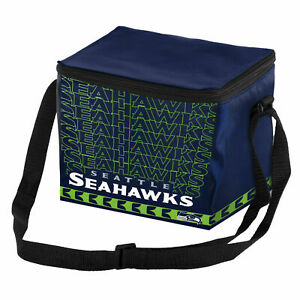 Seattle Seahawks NFL 6 pack Cooler Lunch Box Bag Insulated