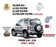 für Mitsubishi Shogun Pinin 1.8 2.0i 1999-2006 Öl luftpollenfilter Wartungs-Satz