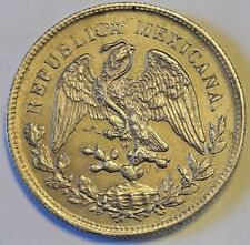 1901 Silver Mexico Un Peso Zs-FZ Second Republic High Mexicana Republica