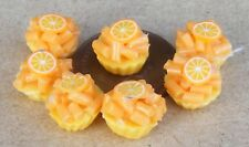 1:12 Scale 7 Loose Orange Cup Cakes Tumdee Dolls House Kitchen Bakery PL32