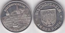BRD-Medaille Bischofsheim an der Rhön, vermutlich Zinn, etwa 10 Gramm & 26 mm