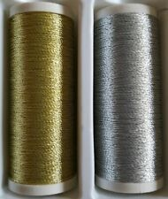 Cotton thread silver & gold both 200m for all sewing machines or hand sewing