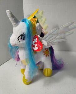 """TY Sparkle My Little Pony PRINCESS CELESTIA 9"""" stuffed plush toy w/ tags"""