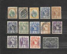 GUATEMALA    14 VALORI USATI - 1881-1886   lot lotto