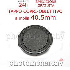 TAPPO frontale obiettivo 40,5mm a molla clip COPERCHIO 40,5 mm CANON NIKON SONY