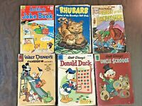 VTG COMIC BOOK LOT MOST SILVER AGE Disney,Archie,Rhubarb,Valley of the Dinosaurs
