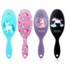 Shower Wet Detangle Hair Brush Unicorn Print Anti-static Hair Brush Massage Comb